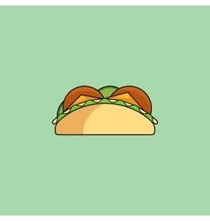 Tacos and burrito line icon vector image vector image