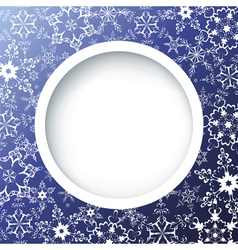 Winter creative background with ornate snowflakes vector image