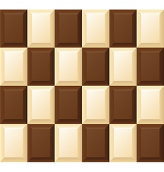 black and white chocolate bar vector image
