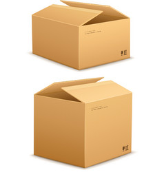 Cardboard box for packing vector image vector image