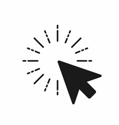 click icon computer mouse pointer click with arrow vector image