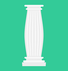 greek column isolated antique post ancient vector image