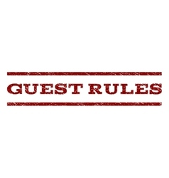Guest Rules Watermark Stamp vector image vector image