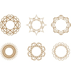 abstract star symbol vector image vector image