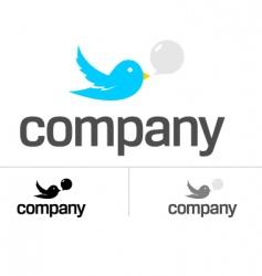bird dating chat logo vector image