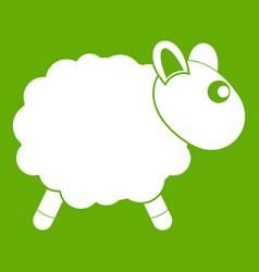 sheep icon green vector image