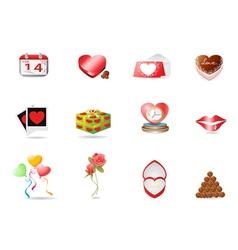 Valentines day icon vector image
