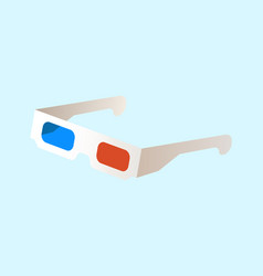3d glasses with colored lenses optical movie vector image