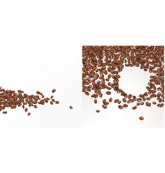 3d realistic seeds of coffee beans vector image