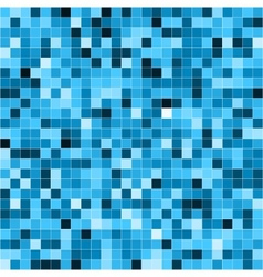 Abstract digital blue pixels seamless pattern vector image