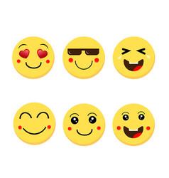 abstract funny flat style emoji emoticon vector image