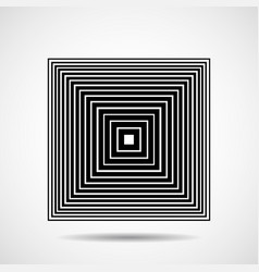 abstract square of lines design element vector image