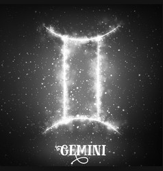 Abstract zodiac sign gemini on a vector