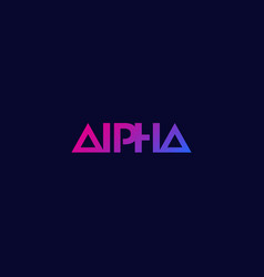 Alpha logo minimal design vector