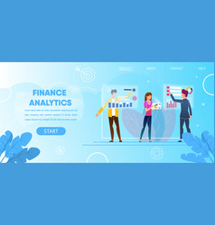 augmented reality for business finance analytics vector image
