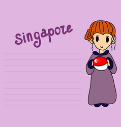 August 9th singapores independence day city-state vector