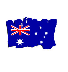 australian flag painted by brush hand paints art vector image