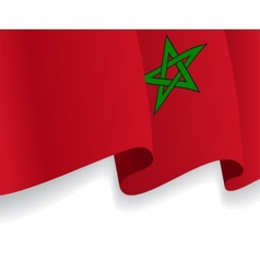 Background with waving moroccan flag vector