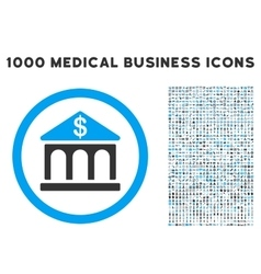Bank building icon with 1000 medical business vector