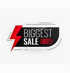 biggest sale modern banner design vector image