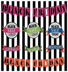 Black Friday Sale Banner Set - Black Friday Sale vector
