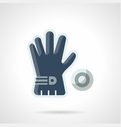 Blue golf glove flat color icon vector