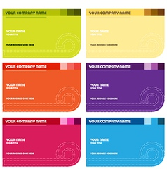 Business card set vector image