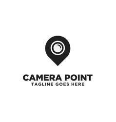 camera point logo design inspiration vector image