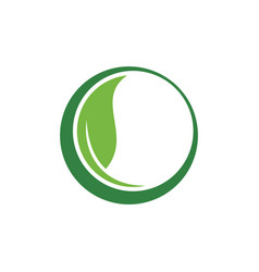 circle green leaf ecology nature vector image