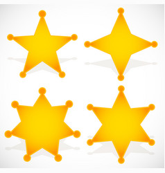 Classic western sheriff badge sheriff star vector