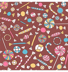 Colorful Sweets Seamless Pattern vector image