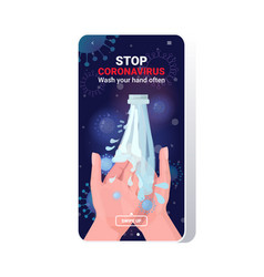 Coronavirus protection wash your hands often vector
