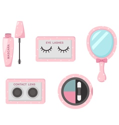 Cosmetics eye set vector