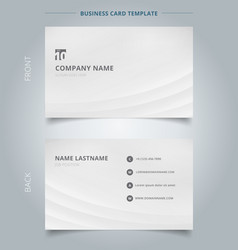 Creative business card and name card template vector