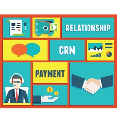 Customer relationship management service vector