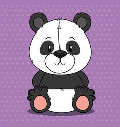 cute bear panda character vector image