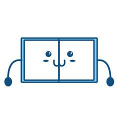 Cute book kawaii vector