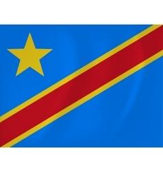 Democratic republic congo waving flag vector