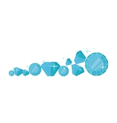 Diamonds In Flat Design vector image