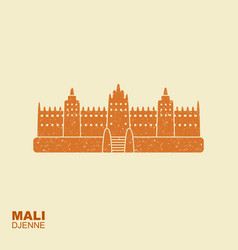 djenne great mosque in farmantala in mali flat vector image