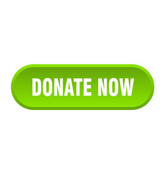 Donate now button donate now rounded green sign vector