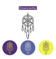 dreamcatcher line icon vector image