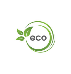 eco green tree leaf ecology vector image