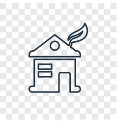 eco house concept linear icon isolated on vector image