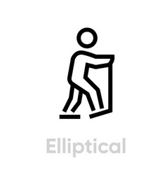 elliptical sport icon vector image