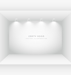 empty room with spot lights vector image