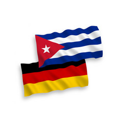 flags cuba and germany on a white background vector image