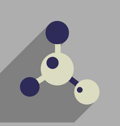 Flat web icon with long shadow molecule vector
