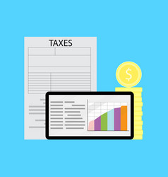 graph of tax statistics vector image