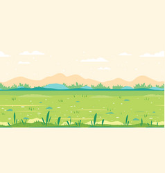Grass field game background flat landscape vector